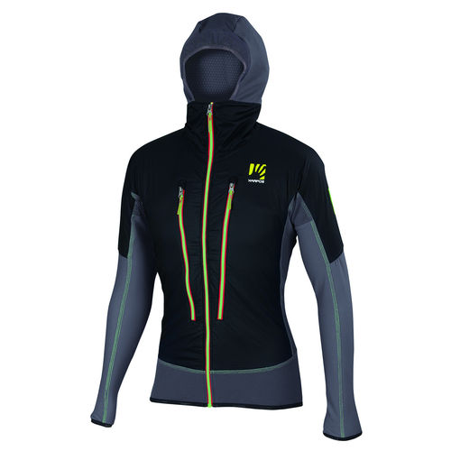 CHAQUETA KARPOS ALAGNA PLUS BLACK/DARK GREY/GREEN FLUO